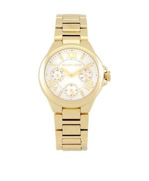 Neu! Michael Kors Gold Uhr Ecru Glamour Jennifer Lopez