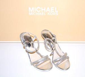 NEU - Michael Kors High Heels – Sandale Yvonne Silber Gr.38,5