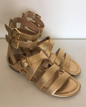 Michael Kors Roman Sandals gold-colored-sand brown leather