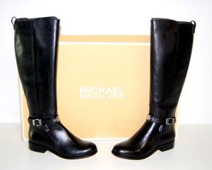 NEU - Michael Kors Leder Stiefel Arley Riding Boot schwarz Gr.35,5
