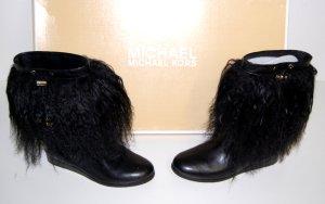 NEU - Michael Kors Leder Stiefel mit Fell  - Schnee Boots Gr. 36