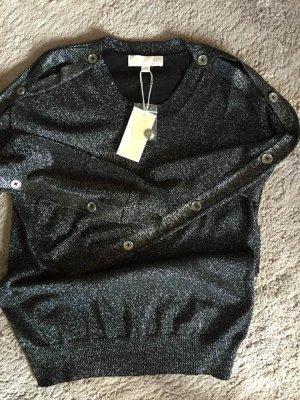 Neu MICHAEL KORS Metallic-Pullover aus Baumwollgemisch Gr.S-M