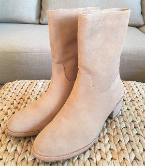 NEU Michael Kors Pierce Stiefeletten 38 Beige Wildleder Nude Toffee Ankle Boots