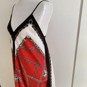 *NEU* MICHAEL KORS rot/weiß/schwarzes Trägerkleid mit Ketten