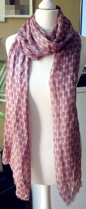Neu Michael Kors Tuch Schal Original Lila Pink Beige MK