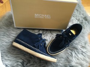 Neu Michael kors wedges Keilabsatz sneaker Wildleder 38.5 39 blau high top