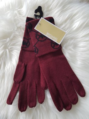 NEU Michel Kors Handschuhe Weinrot Herbst Winter Bordeaux