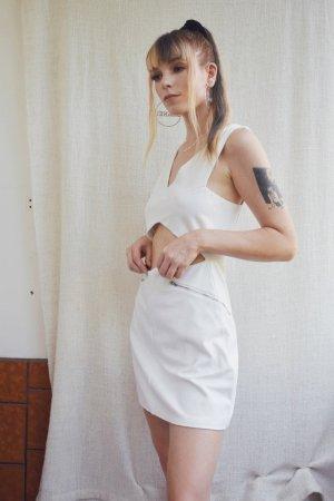 Fashion Union Cut out jurk wit Katoen