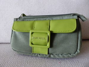 NEU | Mini-Kosmetiktasche in Grün mit modischen Vinyl-Elementen