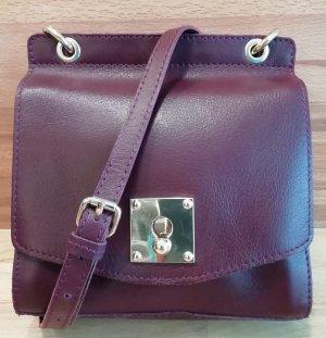 Mint&berry Borsa a spalla viola-marrone-rosso Pelle