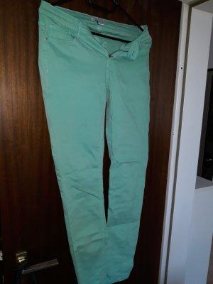 Amisu Pantalon large turquoise-vert menthe