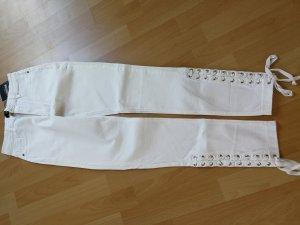 NEU Missguided skinny  Jeans weiss mit seitlicher  Schnürung Grösse 38