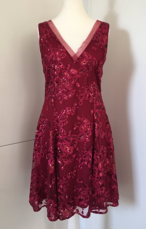 Badgley Mischka Cocktail Dress carmine-dark red mixture fibre