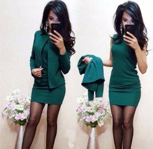 Art Midi Dress petrol-dark green