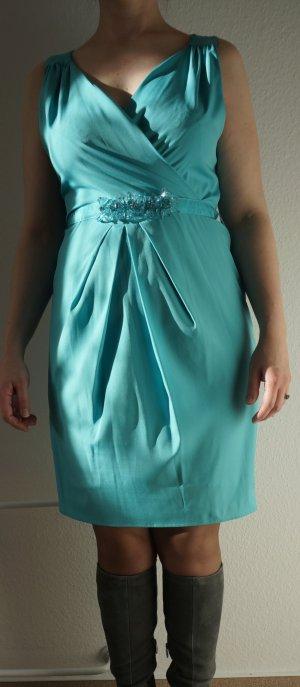 Neu mit Etikett! Ärmelloses Kleid mit Perlen-Gürtel. Gr. L