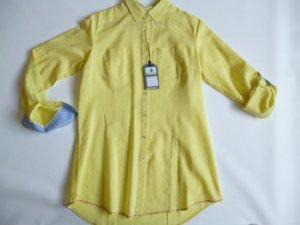 Arqueonautas Blusa de lino amarillo pálido Lino