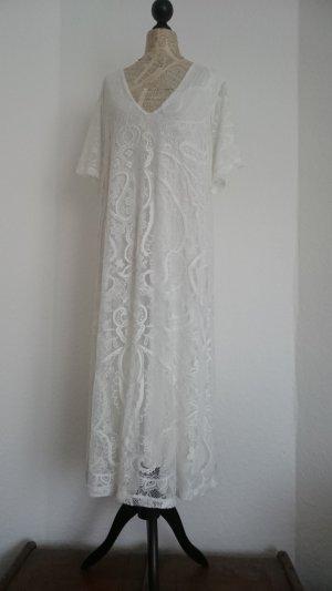 asos curve Robe en dentelle blanc fibre synthétique