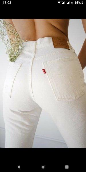 Levi's Boyfriend Jeans white