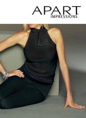 Neu mit Etikett! Bluse mit Schleife von APART in Schwarz. Gr.32