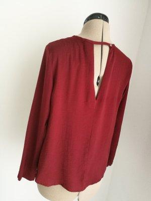 NEU mit ETIKETT! Bordeaux rote Bluse