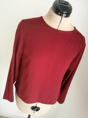 NEU MIT ETIKETT Bordeaux rote Bluse