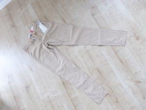 Esprit Pantalon chinos beige clair coton
