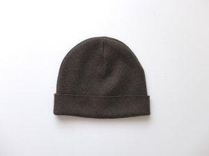 COS Knitted Hat khaki merino wool