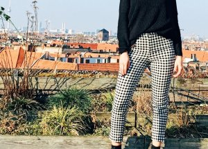 Neu Mit Etikett FOREVER 21 Plaid Pants (Karierte Hosen) Größe L