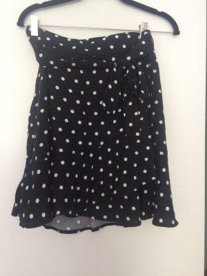 Orsay Flounce Skirt black-white viscose