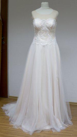 Bianco Abito da sposa crema-color carne