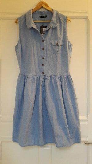 Neu mit Etikett: Jeanshemd-Kleid in Größe 44