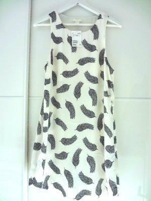 Neu mit Etikett! Kleid mit Federmuster