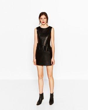 Neu mit Etikett! Leder-Optik Kleid von Zara Gr. 34