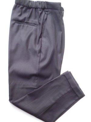 Mango Pantalón de pinza alto negro tejido mezclado