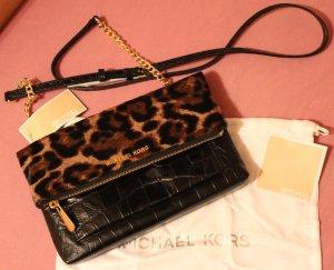 Michael Kors Crossbody bag black-sand brown leather