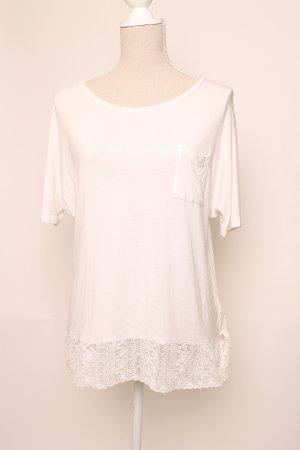 * NEU mit Etikett * Milano Italy Shirt Spitze L 40 weiß creme