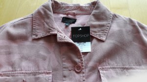 Topshop Military Jacket pink-light grey cotton