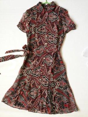 Neu mit Etikett: MNG Silk Blusenkleid aus reiner Seide, leicht, Business-Look, DE Gr. 34