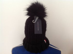 Tommy Hilfiger Bobble Hat black wool