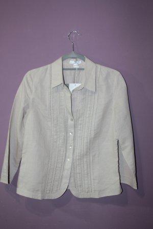 Peter Hahn Linnen blouse beige Linnen
