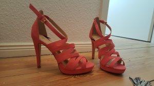 NEU mit Etikett! pinke High Heels Riemchen Sandaletten H&M Größe 39