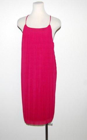Mango Mini Dress magenta polyester