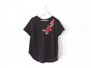Neu mit Etikett Primark Atmosphere T-Shirt Gr. 40 schwarz Applikationen Blumen