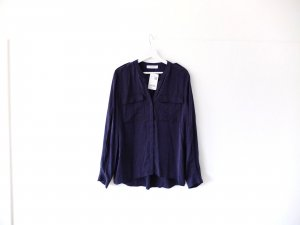 Neu mit Etikett Promod Bluse Gr. 40 blau Vokuhila