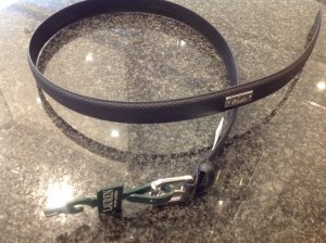 Lauren by Ralph Lauren Faux Leather Belt black brown-light grey synthetic