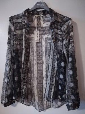 NEU MIT ETIKETT: RICH&ROYAL Bluse, leicht transparent, edles Muster