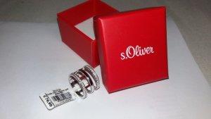 *NEU MIT ETIKETT* S.Oliver Black Label Ring, Größe 54/17, Silber 925