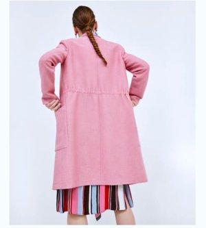 Zara Between-Seasons-Coat pink-light pink