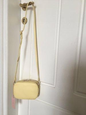 Borsa a spalla giallo chiaro-giallo Pelle