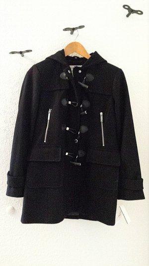 NEU mit Etikett, Wunderschöner Wollmantel mit Kaputze von MICHAEL KORS, schwarz, Gr. S